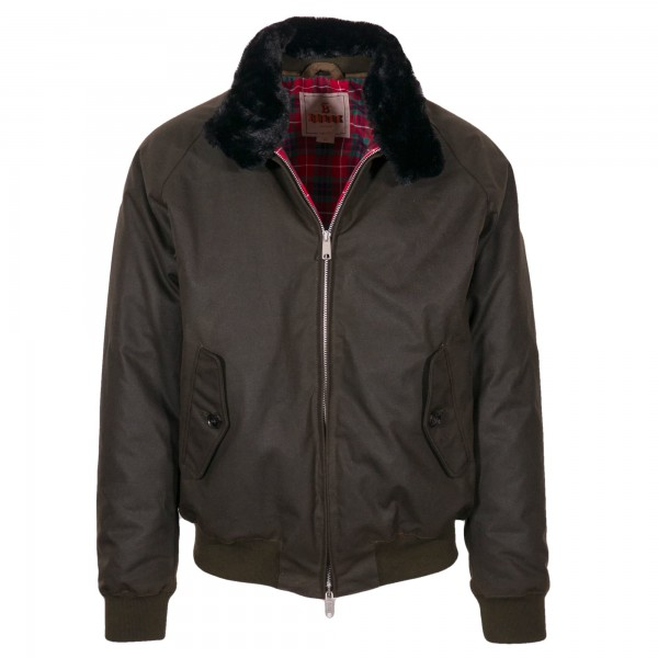 Baracuta G9 Blouson Waxed Cotton Deep Moos