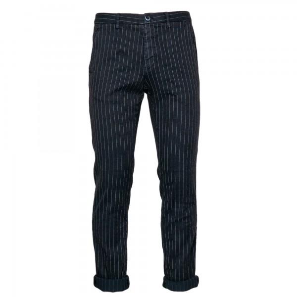 Mason's Trousers Torino Linen Pinstripe