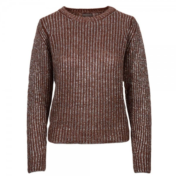Maliparmi Knitted Sweater with Metallic Stripes