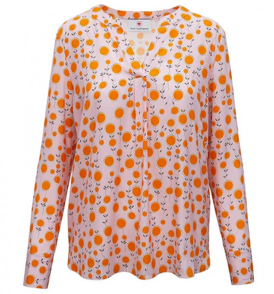 herzen's angelegenheit silk blouse pink