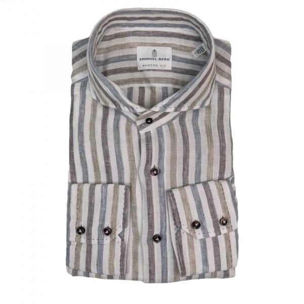 Emanuel Berg Striped Linen Shirt