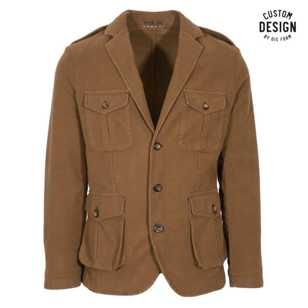 Borelio Slack Jacket Vector Cognac