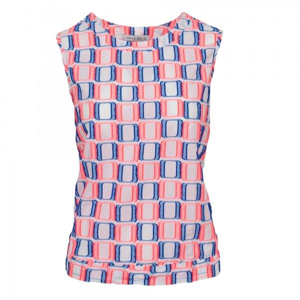 Shirt No.2 Top Blau-Pink